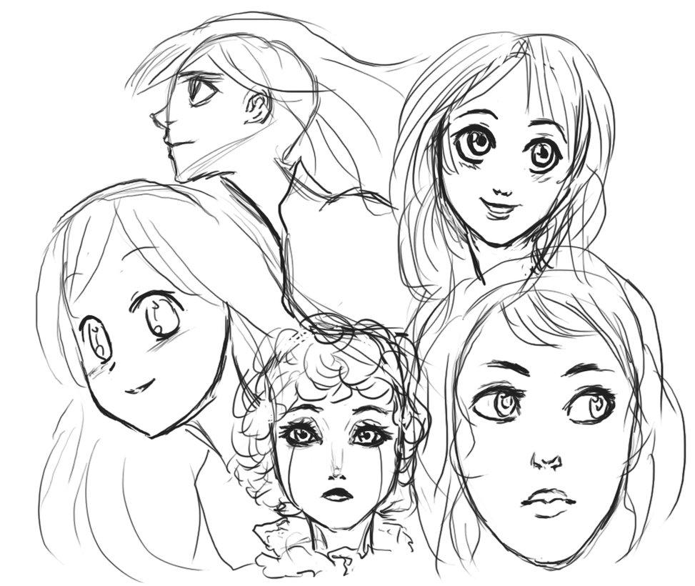 973x820 Anime Face Study By Shadowlillium
