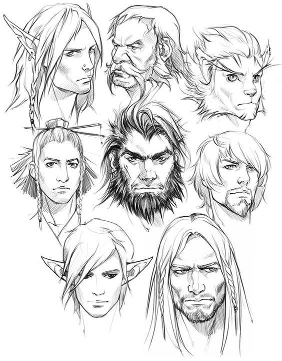 564x721 Pin By Ian Osborne On Portraits Character Sketches