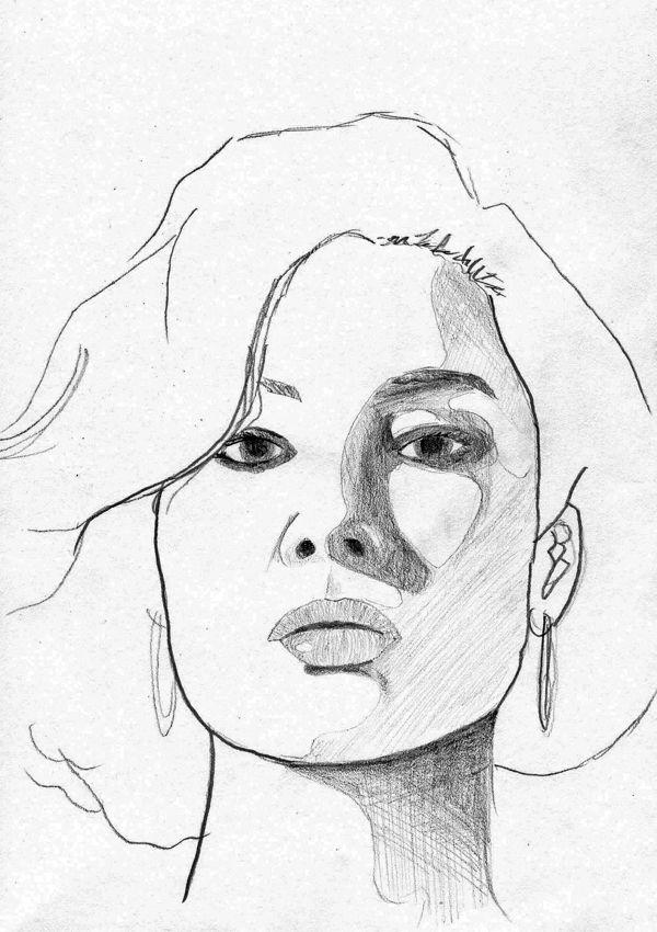 600x850 Woman Face Sketch By Hendy Thong, Via Behance Woman Face Study
