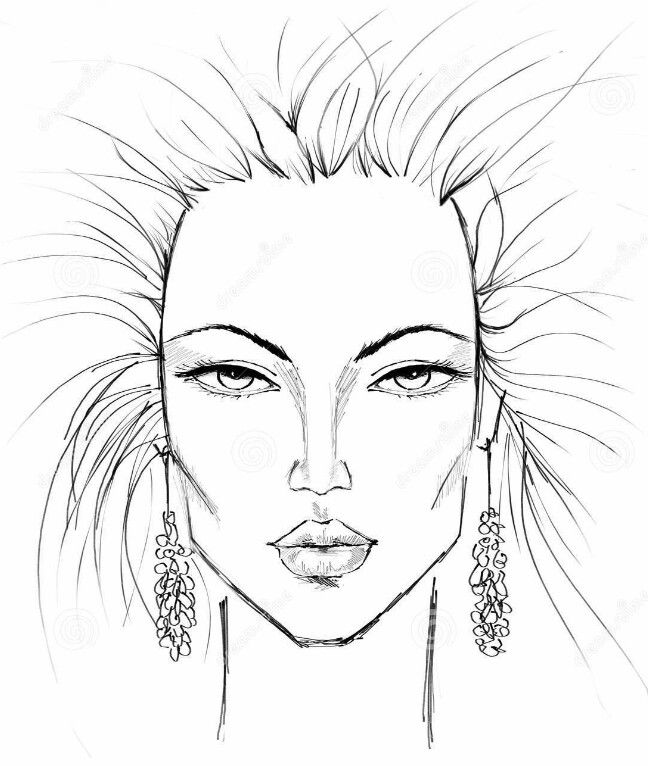 Face Template Drawing at GetDrawings.com | Free for personal use ...