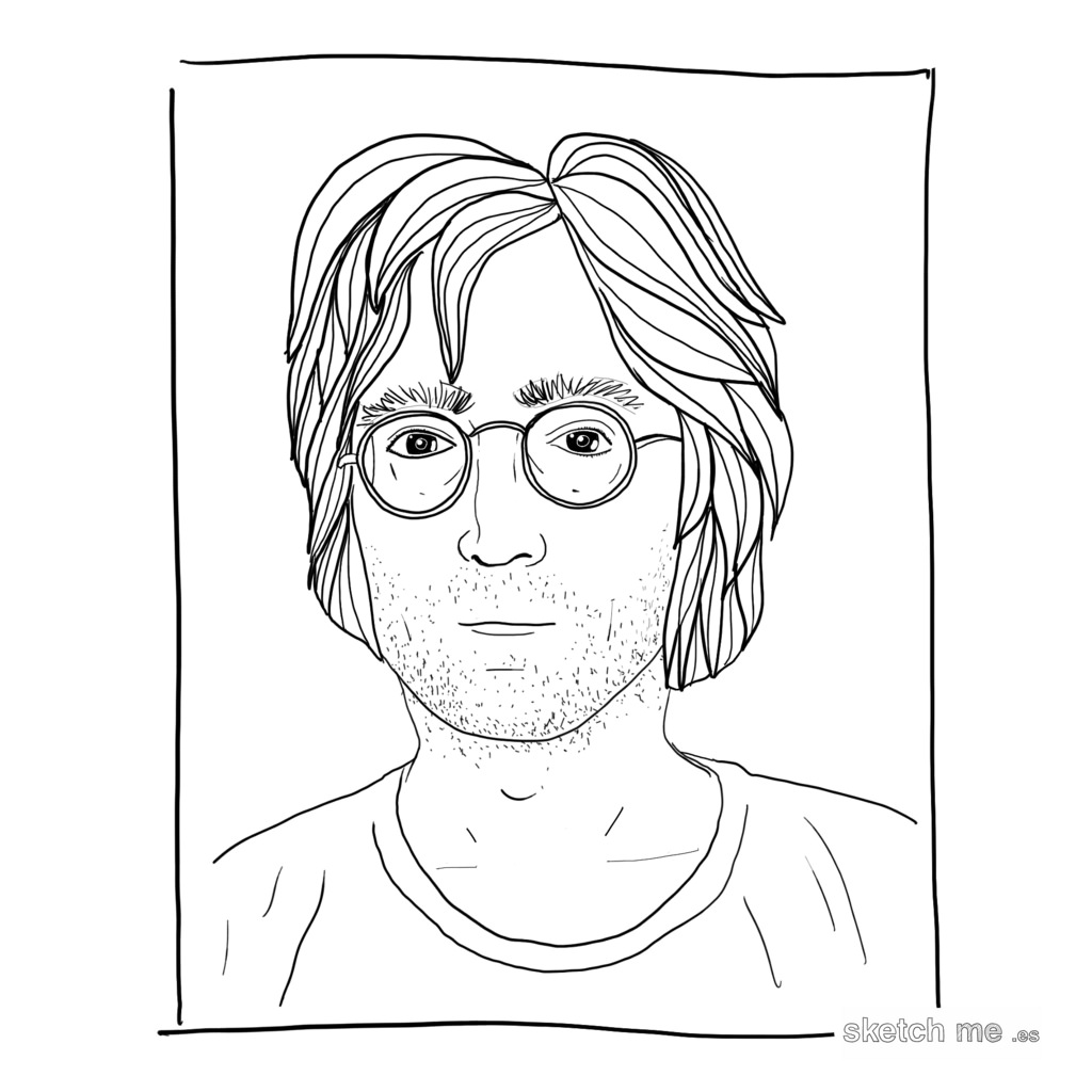 1024x1024 John Lennon From Andy Warhol Polaroids