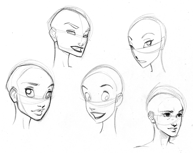 750x592 Disney Style Character Concept Art Faces And Expressions Sketch