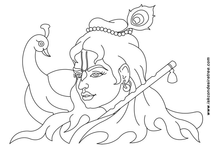 737x521 Krishna Face Sketches Krishna, Lord Krishna