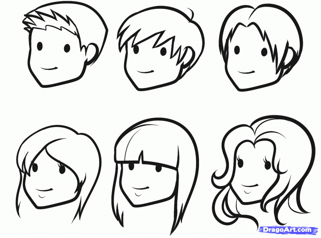 1024x758 How To Draw A Face For Children Blank Faces Templates. Free