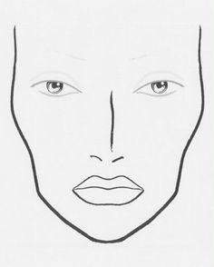 236x294 Blank Face Charts Blank Face Template For Makeup