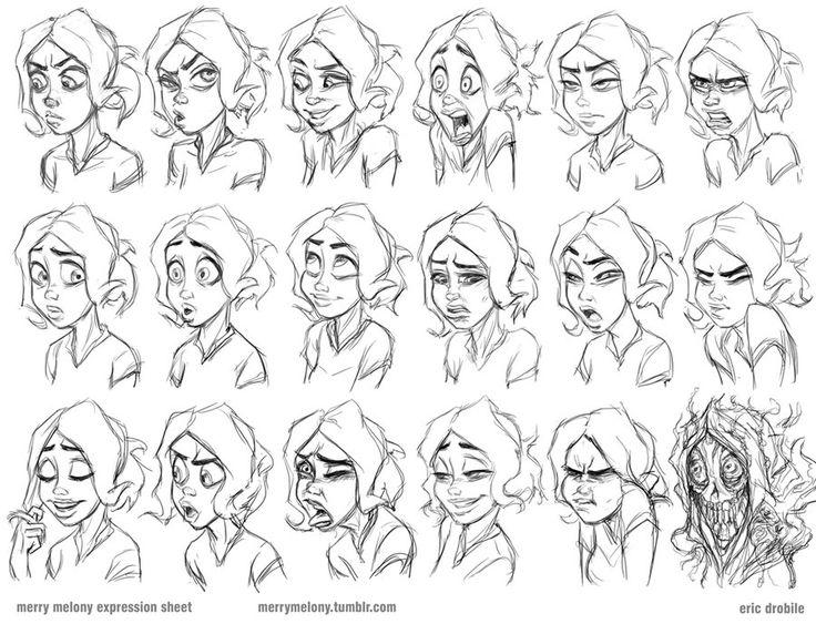 Line Drawings Of Facial Expressions : Facial expressions cartoon drawing at getdrawings