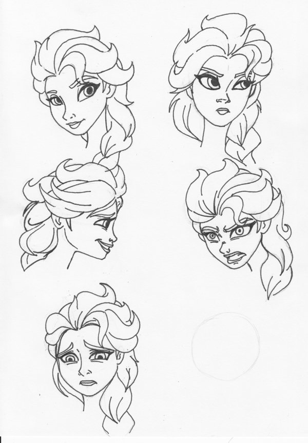 600x863 Elsa Facial Expressions By Kenichi Shinigami