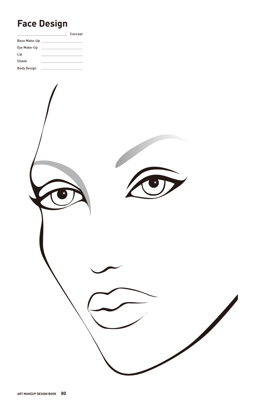 888x1334 Free Printable Face Chart For Makeup Artists