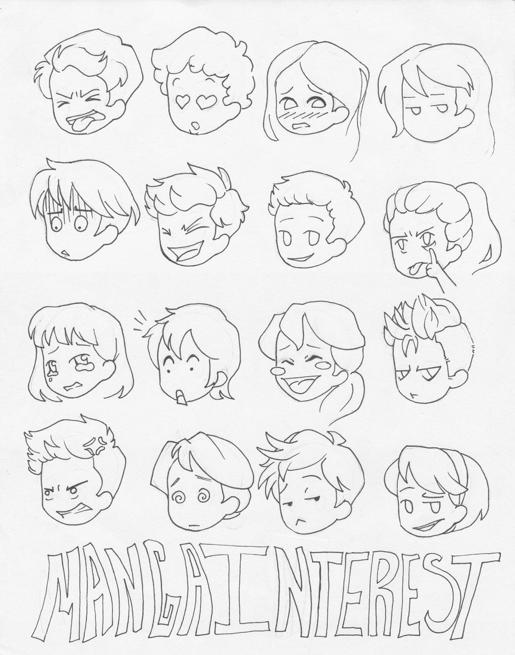 1020x1299 Manga Interest Facial Expressions