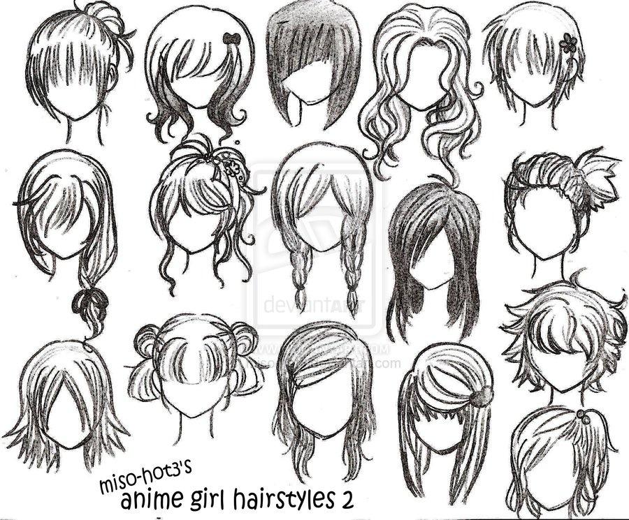 900x745 Anime Hairstyles Anime Drawing Tutorials Anime