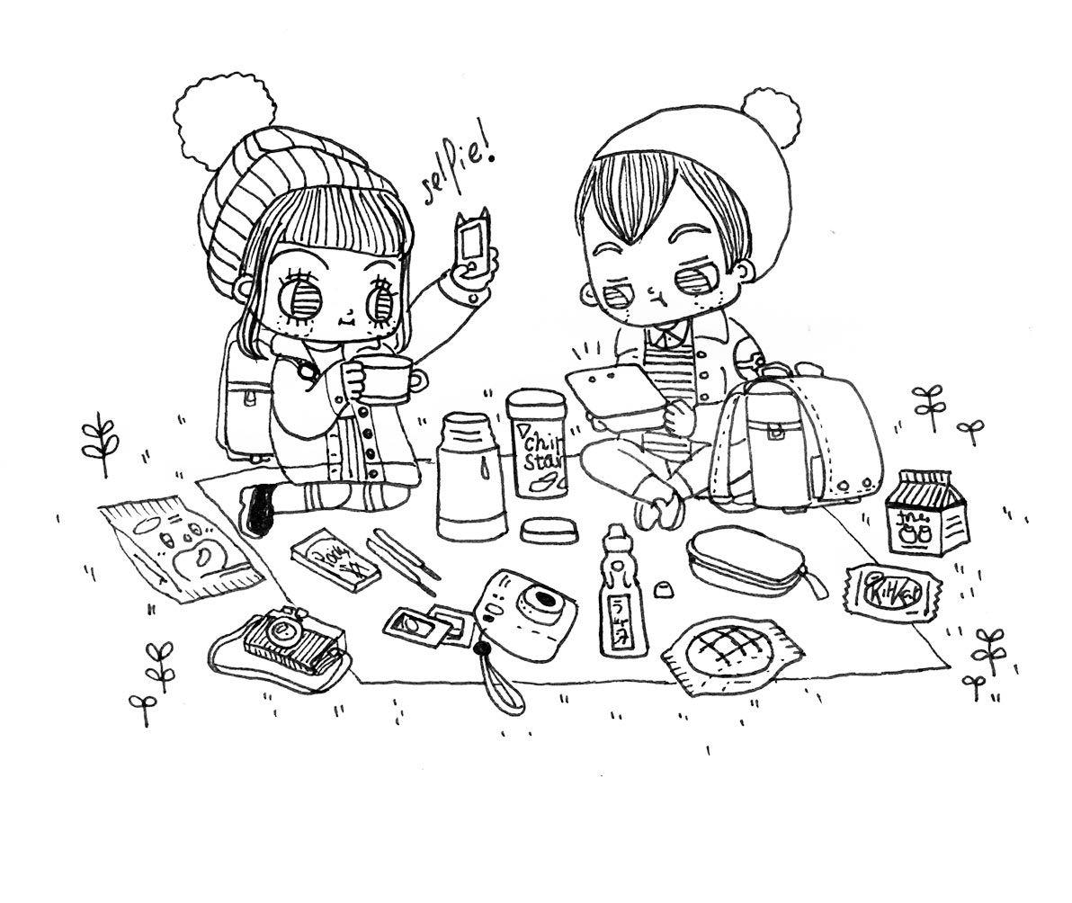 1192x1004 Oh Carol Illustration Couples Illustrators
