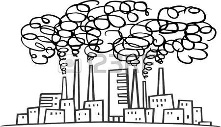 450x259 Factories And Much Smoke Royalty Free Cliparts, Vectors, And Stock