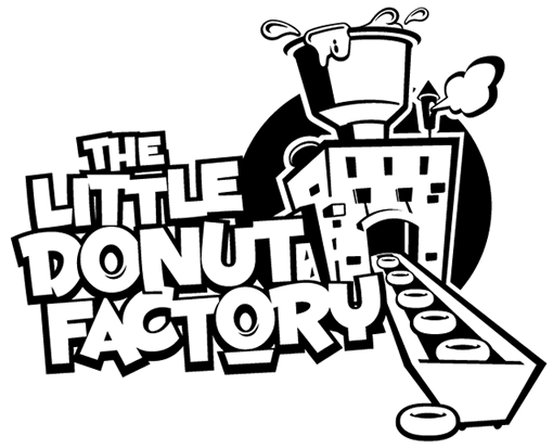 510x413 Donut Company Amp Machine Packaging Logo The Little Donut Factory