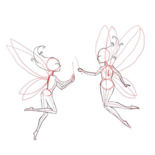 600x600 Line Art Drawings Of Fairies How To Draw Fairies