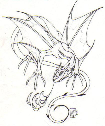 421x505 Faerie Dragon Inked By Martfam816