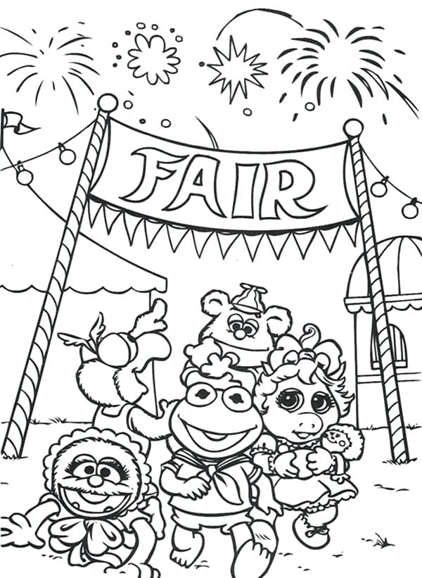 600x821 Muppet Coloring Pages Coloring Pages Of The Fair Muppet Show