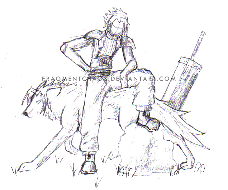 732x608 Zack Fair Sketch By Fragmentchaos