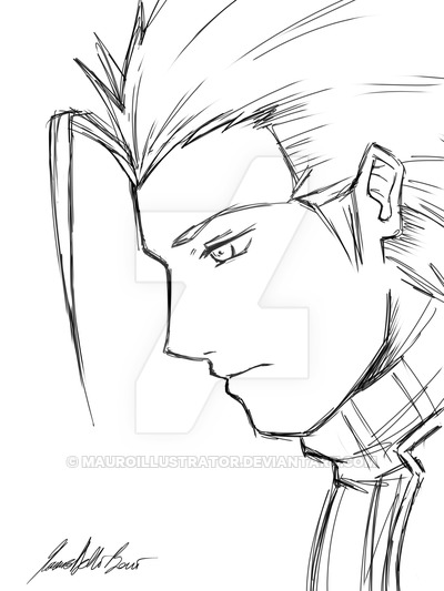 400x533 Zack Fair Sketch By Mauroillustrator