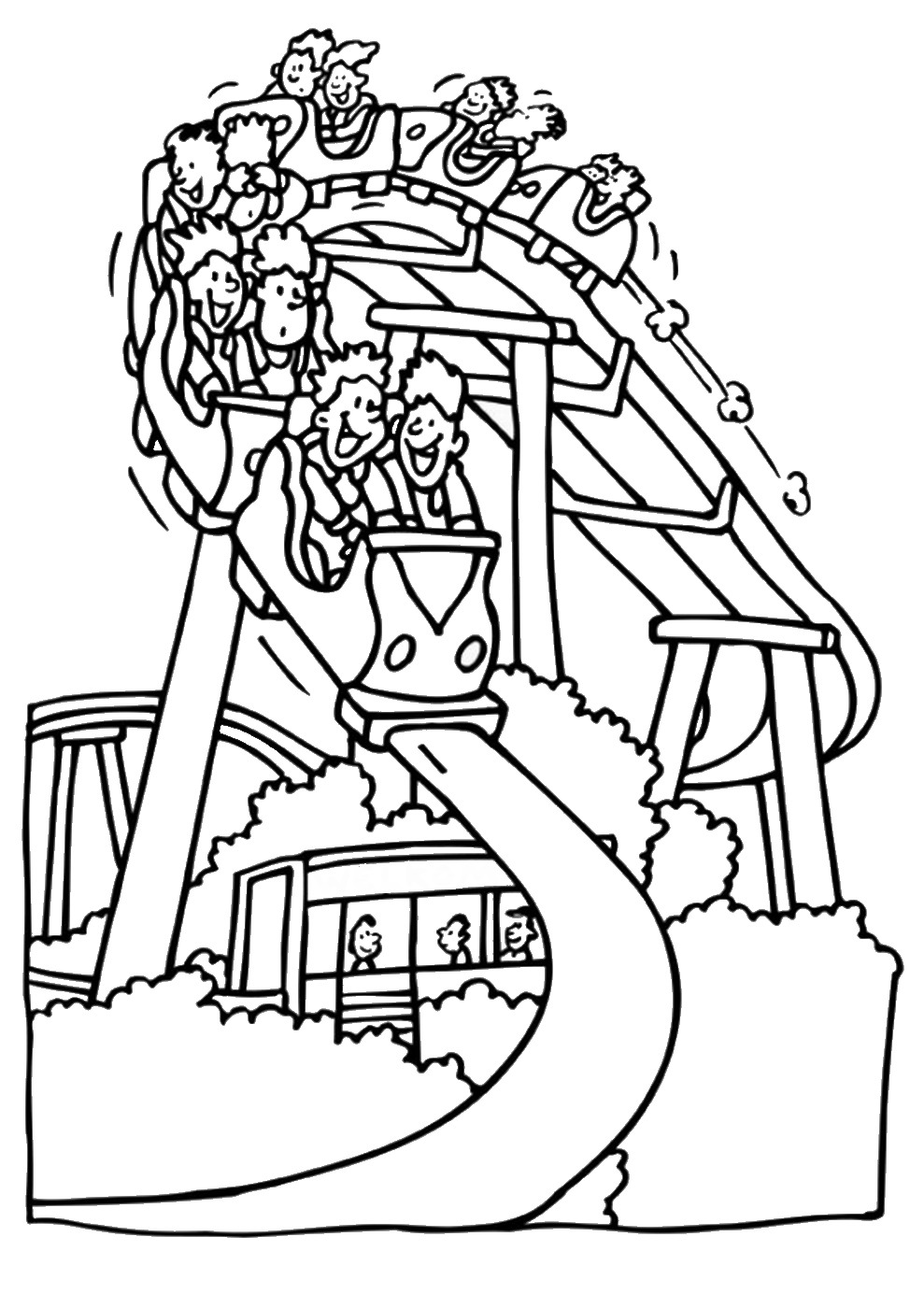 989x1400 Nice Free Coloring Pages Of Fun Fair Paintings Mcoloring