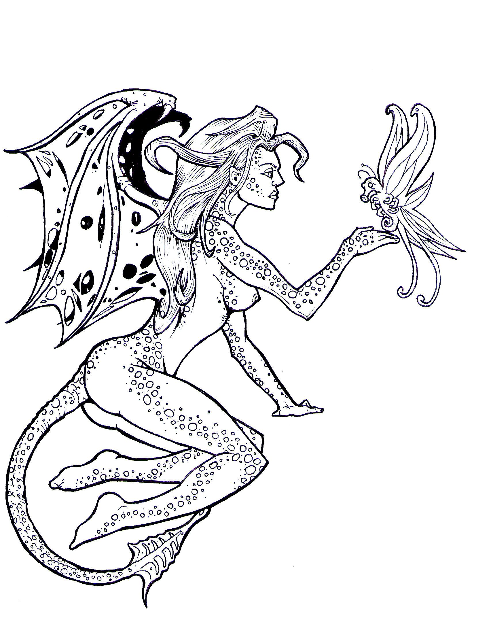 Fairies Black And White Drawing at GetDrawings.com   Free for ...