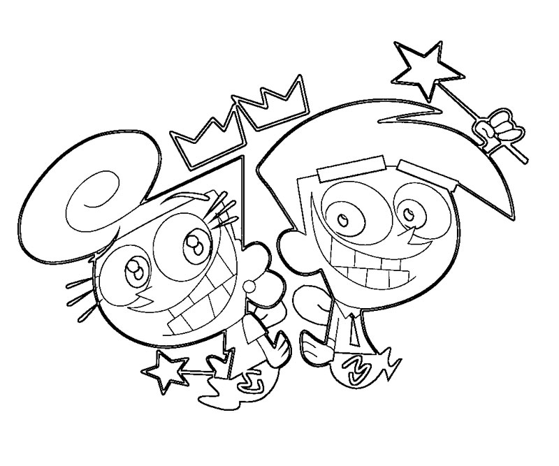 800x667 Fairly Odd Parents Coloring Pages