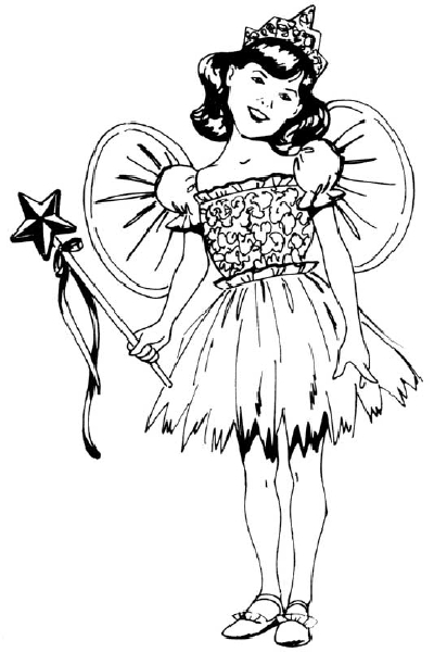 400x600 How To Draw Pepole Girl In A Fairy Costume Howstuffworks