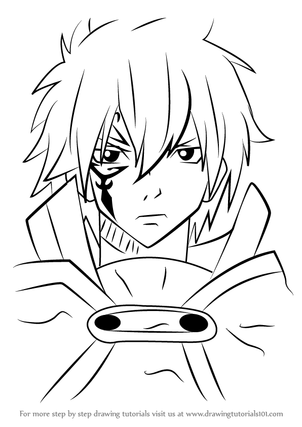 596x842 Learn How To Draw Jellal Fernandes From Fairy Tail (Fairy Tail