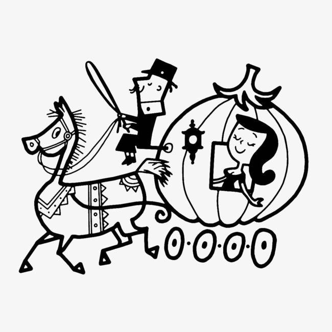 650x651 Cartoon Drawing, Cinderella, Pumpkin Carriage, The Pumpkin