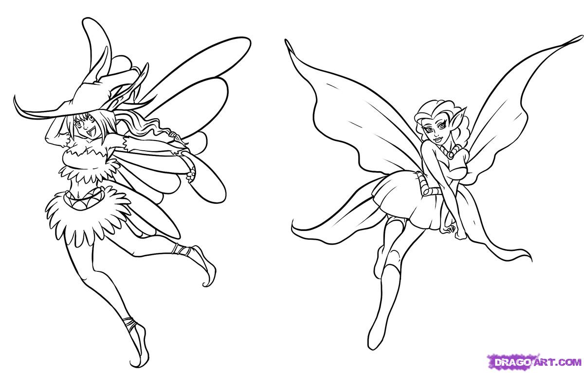 1200x767 Draw Fairies, Step By Step, Drawing Sheets, Added By Dawn, March