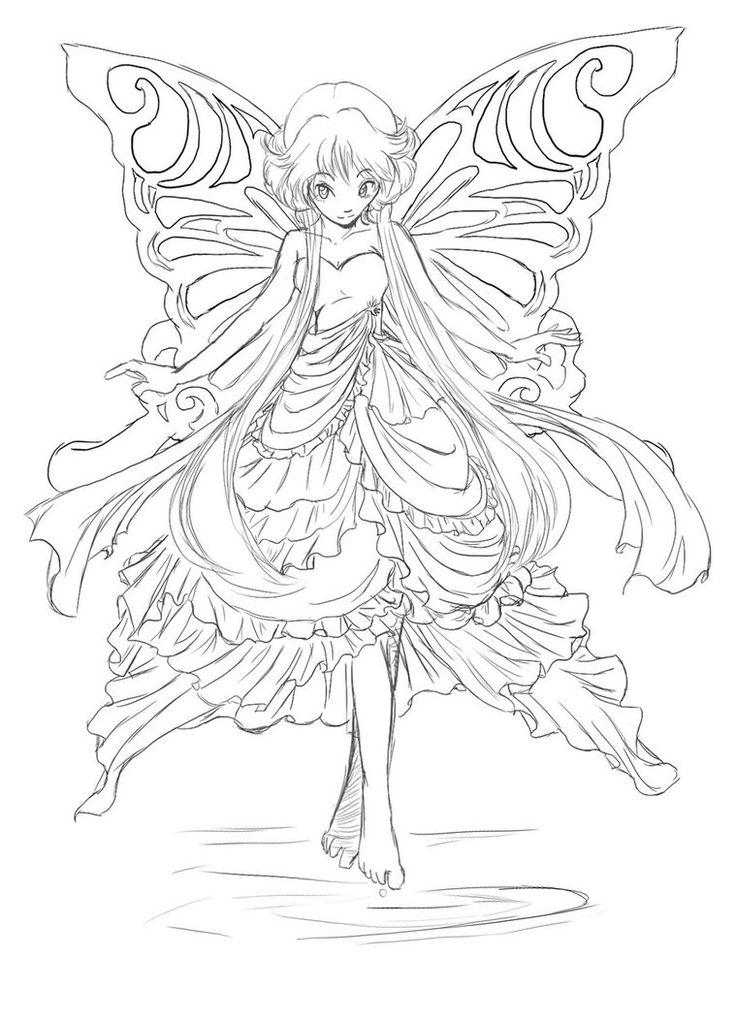Angel Fairy Drawing Pages - Worksheet & Coloring Pages