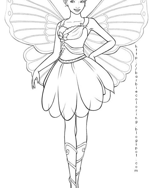 483x600 Fairy Barbie Coloring Pages Barbie Mariposa Coloring Pages Fairy