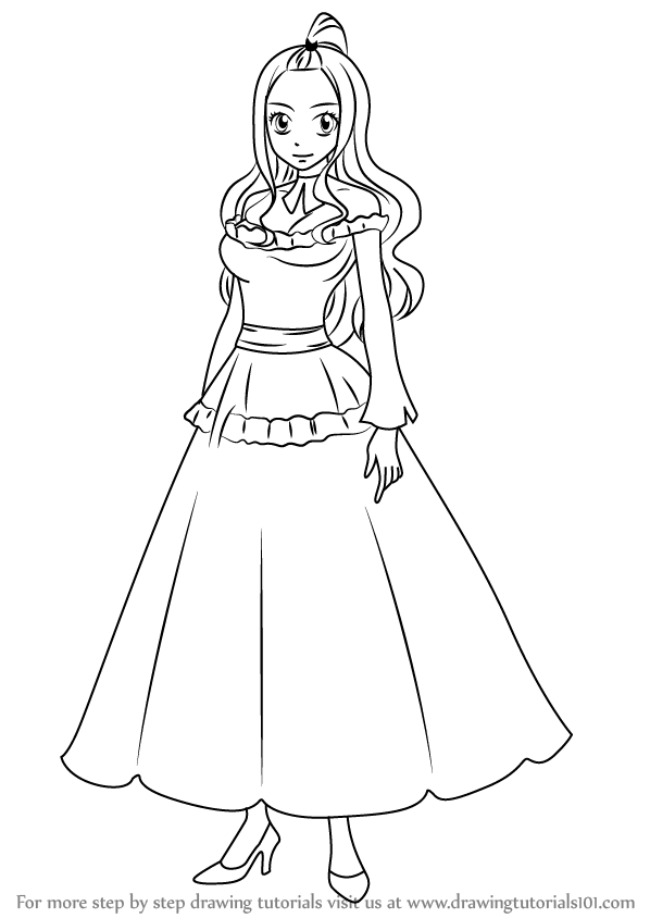 598x844 Learn How To Draw Mirajane Strauss From Fairy Tail (Fairy Tail