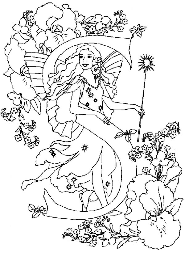 Garden fairy coloring pages ~ Fairy Garden Drawing at GetDrawings.com | Free for ...