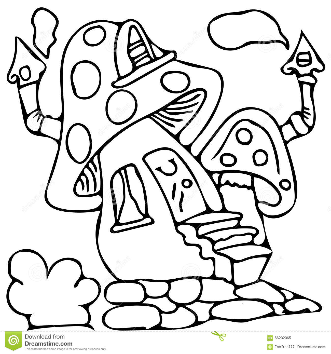 1300x1390 Fairy House Coloring Pages