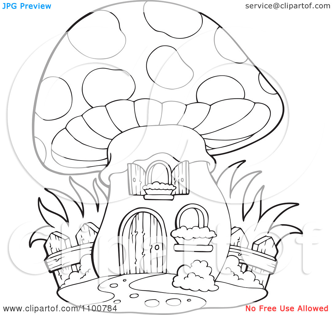 1080x1024 Fairy Mushroom House Coloring Pages