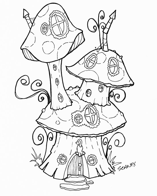 Fairy House Drawing at GetDrawingscom Free for personal use Fairy