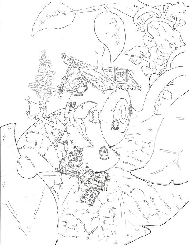 618x800 Tiny Fairy House