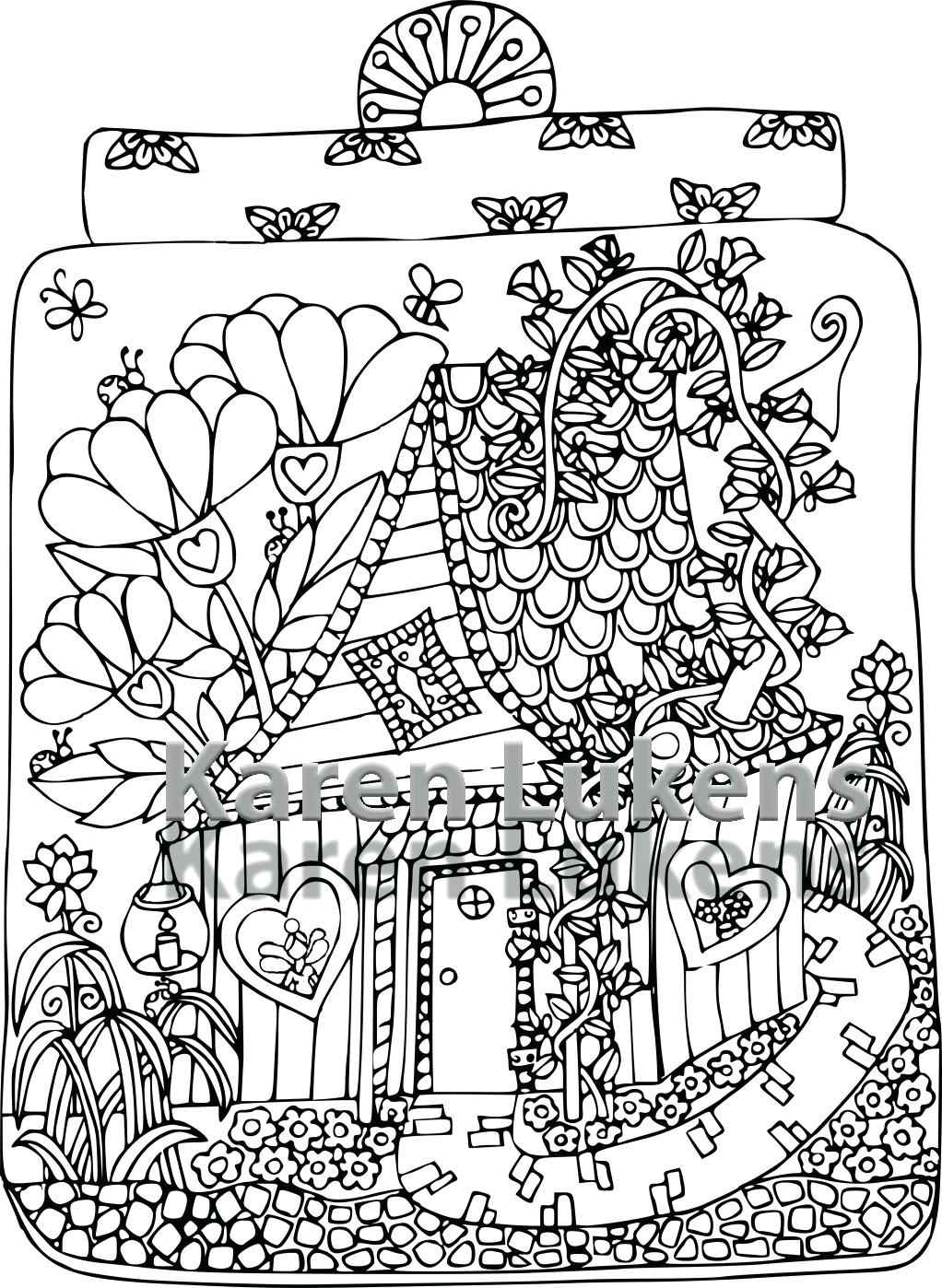 1022x1398 Coloring Fairy House Coloring Pages