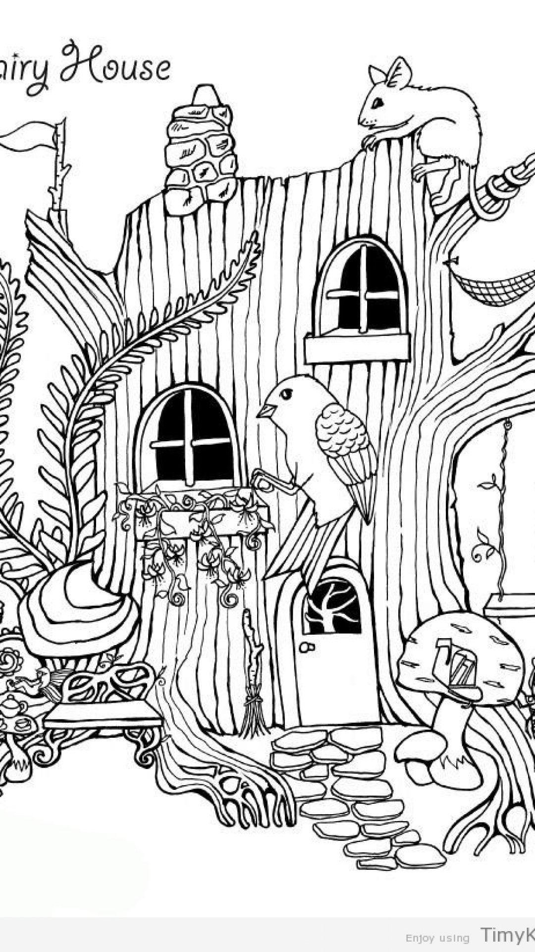 Inside House Drawing: Fairy House Drawing At GetDrawings
