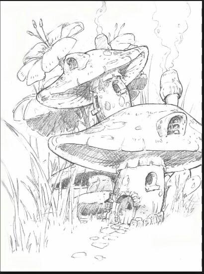 410x552 Mushroom Houses Clever Crafts Mushroom House