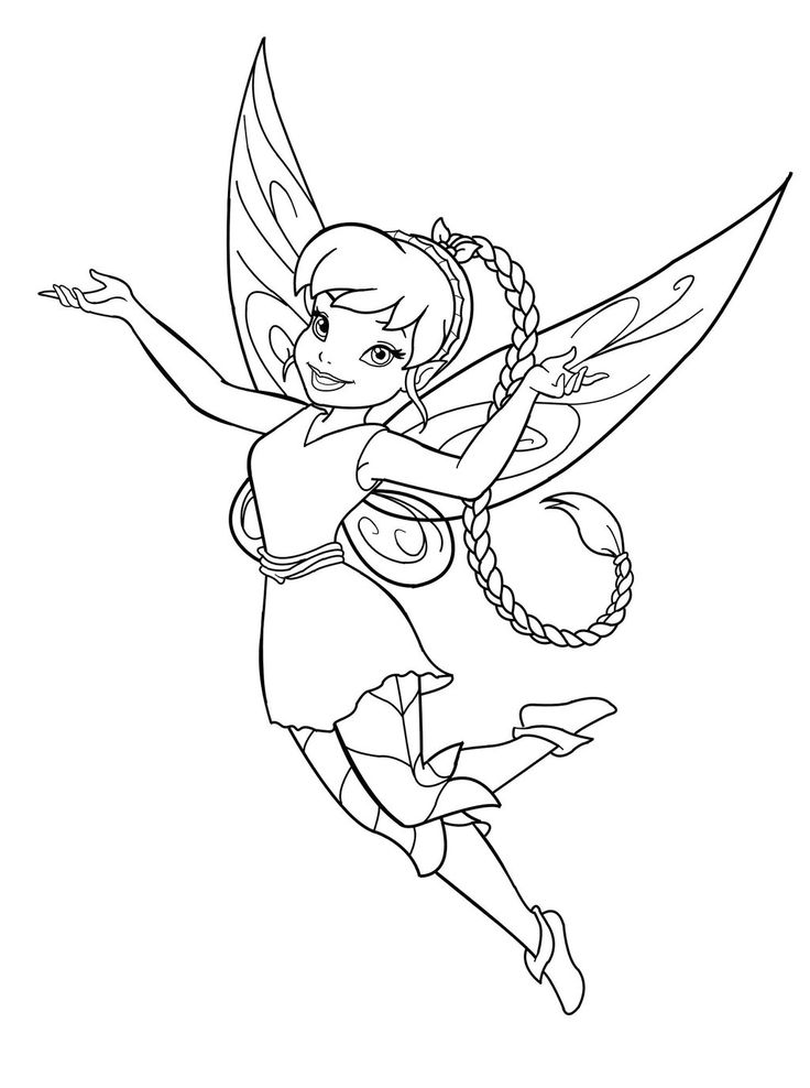 line art coloring pages - fairy line drawing at free for personal