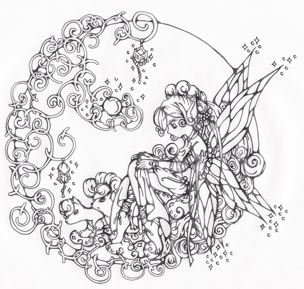 600x570 Fairy Contemplation For 2009 By Vulpixfairy
