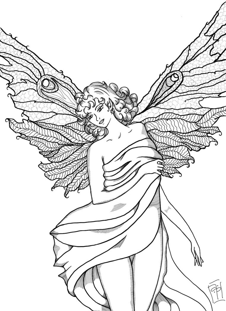 762x1048 Fairy Line Art Wip By Sintar