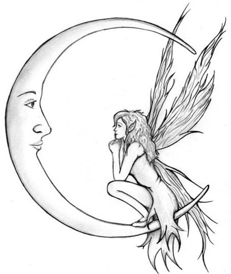 454x540 Fairy Tattoo Designs