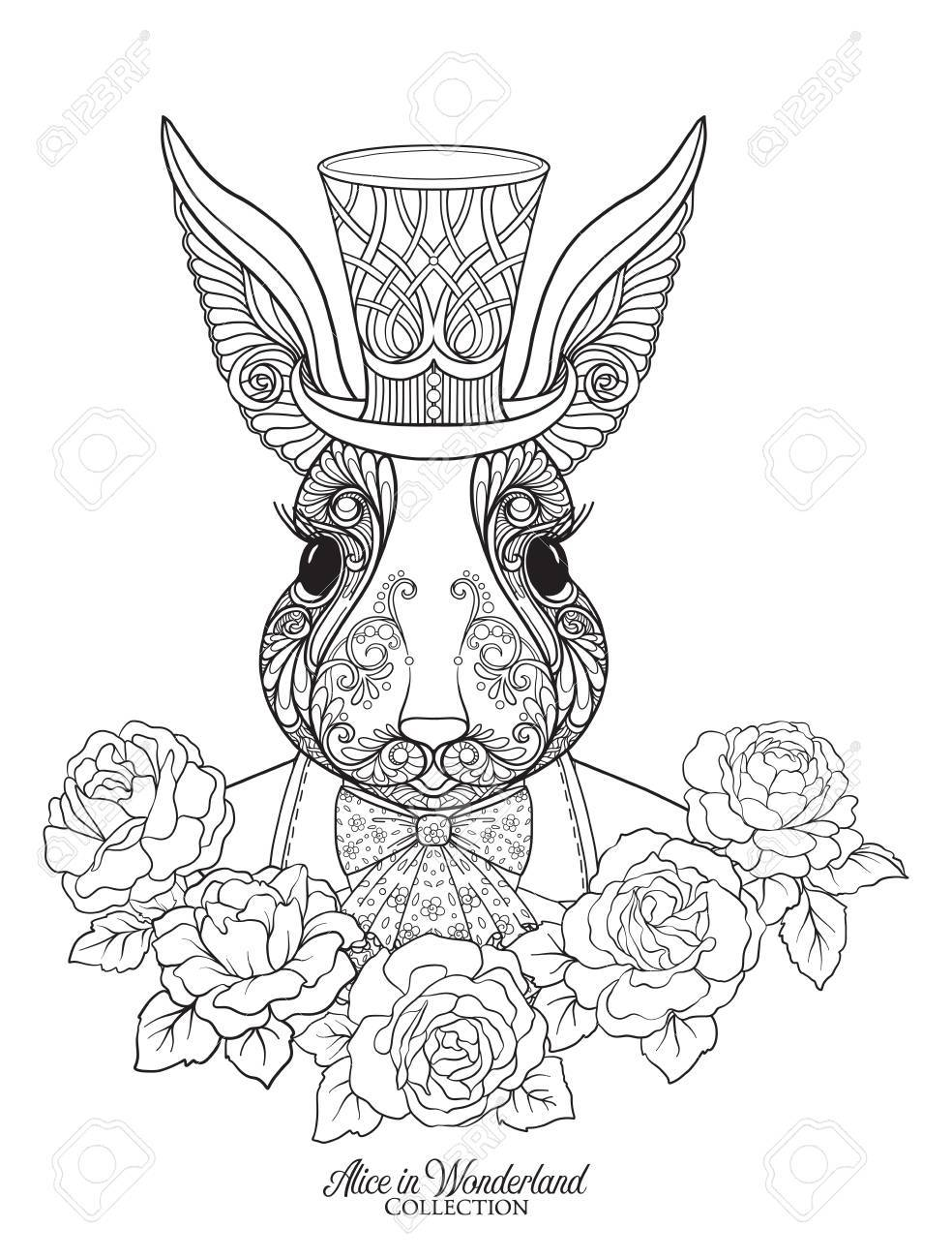 984x1300 Hare Or Rabbit In The Hat From The Fairy Tale Alice In Wonderland