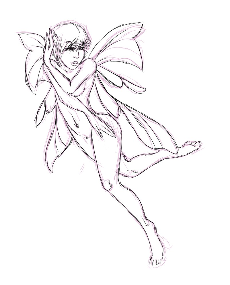 802x996 Learn How To Draw Fairies Online Drawing Lessons