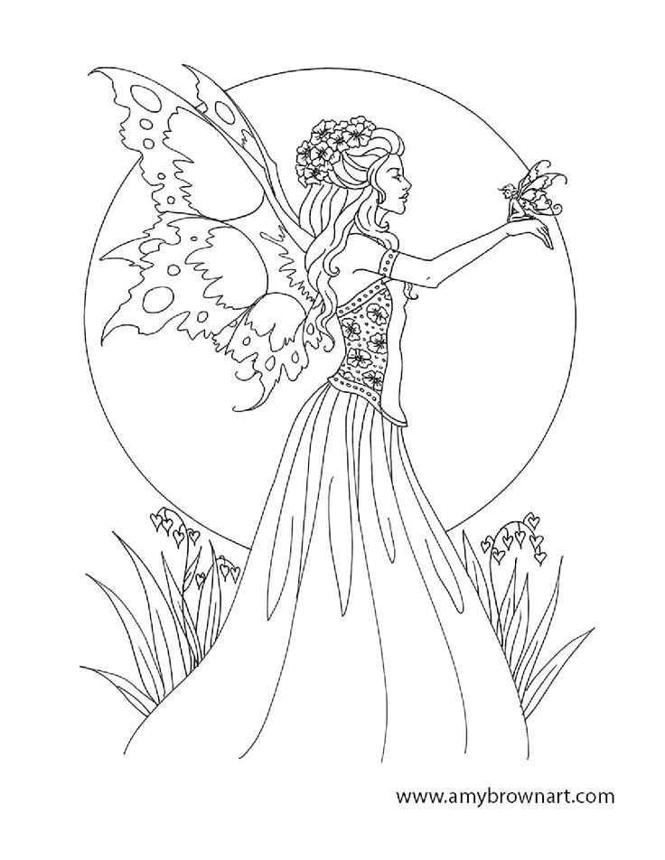 736x952 Minimalist Fairy Coloring Page New