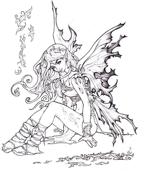 600x723 Autumn Fairy By Pallat