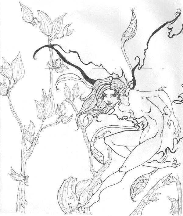 600x708 Thorn Fairy Line Art By Smwilnau