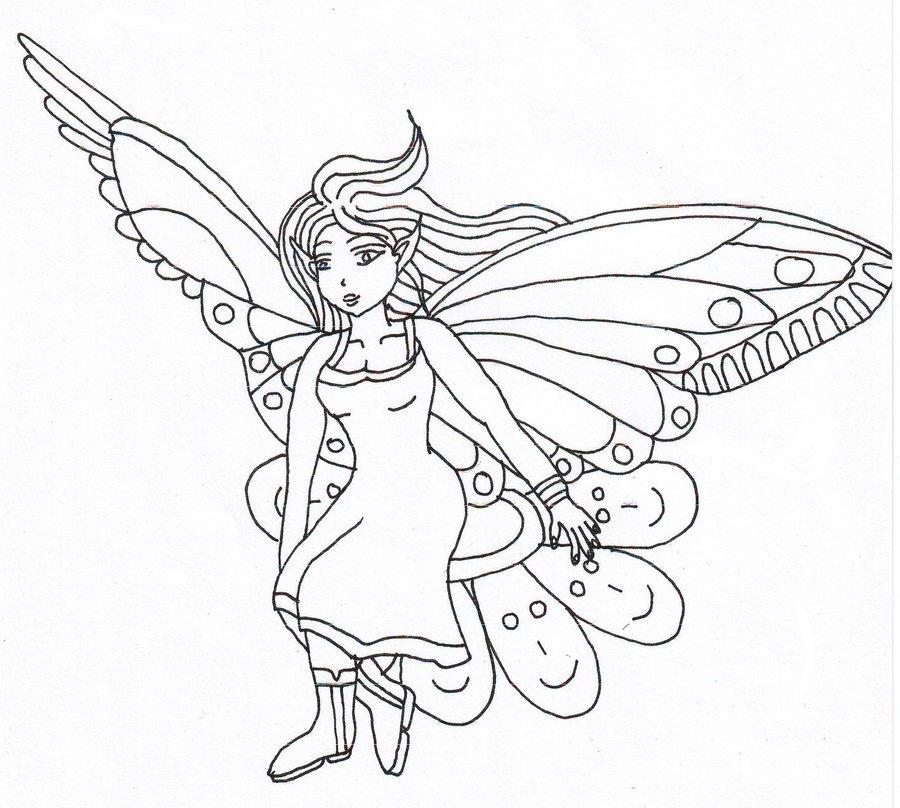 900x808 Butterfly Fairy By Ka Kind